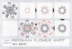 Persian Flower Knot - tangle pattern