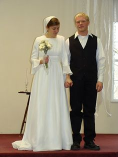 I hope I'll have a modest wedding dress like this when I'm older..