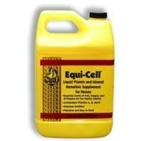 EQUI CELL, Size: GALLON (Catalog Category: Equine Supplements:SUPPLEMENTS) by RICHDEL INC. $40.53. High quality liquid hematinic vitamin supplement containing optimal levels of iron, copper, b vitamins, and antioxidants. Hematinic helps build red blood cells. Ferric ammonium citrate most bio-available source of iron. Added vitamins and minerals to support increased energy and proper metabolism. Palatable and easy to feed liquid. 1 gallon 64 day supply.Ingredients: ...