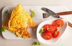Omelett med Kavli SkinkeOst
