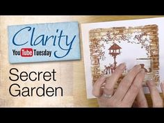 ▶ Clarity Stencil and Gelli Plate How To - A Secret Garden - YouTube. Creating a brick wall frame using the Gelli plate. Fabulous effect and love all the tips and hints
