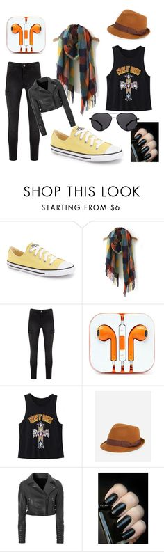 """""""Trending Item: SheIn Multicolored Scarf"""" by biovine ❤ liked on Polyvore featuring Converse, WithChic, FOUR BUTTONS, Glamorous and The Row"""