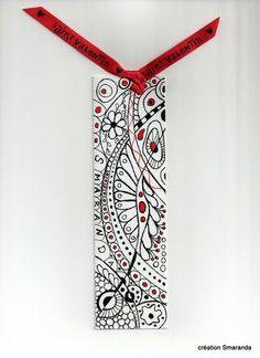 Bookmarks from zentangles