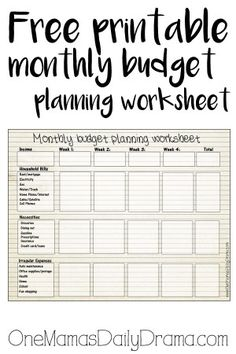 free monthly budget template amazing random healthy information