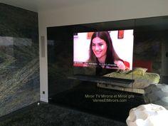 Miroir TV et miroir gris