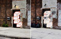 """Door to Door"" by Aakash Nihalani   Photographed by Noah Kalina"
