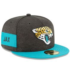 new arrivals 1a490 9a293 Jacksonville Jaguars New Era 2018 NFL Sideline Home Official 59FIFTY Fitted  Hat – Black Teal