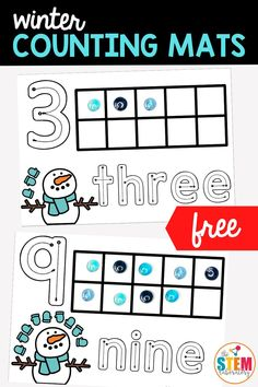 Subitizing, number recognition and fine-motor skills in one! These cute winter counting mats tick ALL the boxes!! They're a great way to get little minds (and little fingers) learning this winter. A perfect addition to your math centers for Pre-K, Kindergarten, and 1st Grade.