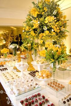 Buffet Table in Yellow