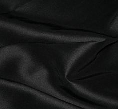 Classique Duchesse Satin. Black. 147cm Wide.