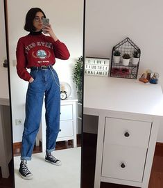 Vintage Outfits for larger women Retro Outfits, Vintage Outfits, Edgy Outfits, Mode Outfits, Grunge Outfits, Girl Outfits, Grunge Clothes, Layering Outfits, Fashion Vintage