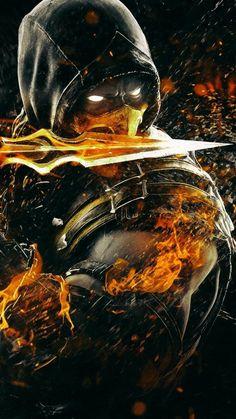 Mortal Kombat Tattoo, Mortal Kombat X Scorpion, Sub Zero Mortal Kombat, Mortal Kombat Art, Deadpool Wallpaper, Marvel Wallpaper, Skorpion Mortal Kombat, Mortal Kombat X Wallpapers, Arte Assassins Creed