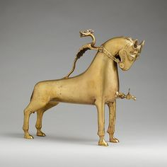 Aquamanile in the Form of a Horse, ca. 1400. German. The Metropolitan Museum of Art, New York. Gift of William M. Laffan, 1910 (10.13.4a) #horses