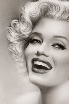 Marilyn Monroe Fine Art Print (close up) by Melody Owen   This image first pinned to Marilyn Monroe Art board, here: http://pinterest.com/fairbanksgrafix/marilyn-monroe-art/    #Art #MarilynMonroe