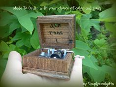I love you love music box wooden music box by Simplycoolgifts, $54.00 Wooden Music Box, Wooden Boxes, Our Wedding, Wedding Ideas, Halloween Themes, Wood Watch, Decorative Boxes, Songs, My Love