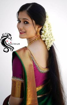 Indian Long Hair Braid, Braids For Long Hair, Straight Hairstyles, Cool Hairstyles, Indian Actress Hot Pics, Bridal Blouse Designs, Cute Girl Face, Saree Styles, India Beauty