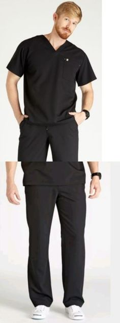 ebf9dc059e8 Sets 105432: New Figs Large Scrubs Uniform Set In Black Medical And Dental  And Nursing -> BUY IT NOW ONLY: $52.99 on eBay!