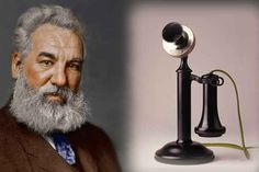 In 1876 Alexander Graham Bell (1847-1922),  a Scottish-born American scientist best known as the inventor of the telephone, worked at a school for the deaf while attempting to invent a machine that would transmit sound by electricity.