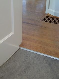 Marmoleum Floor Transition To Wood