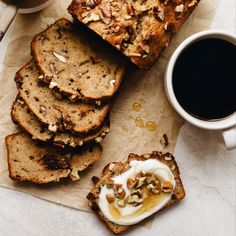 Whole Wheat Maple Yogurt Banana Bread With Pecans And Chocolate on the feedfeed