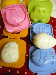 Egg molds for bento box. Too bad my kids are too old.