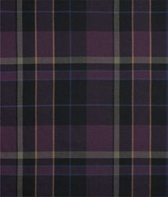 Ralph Lauren Glen Coe Plaid Plum Fabric...Not liking plaid probably proves that I don't have a Scottish bone in my body.