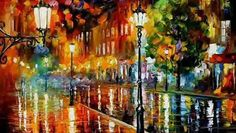Leonid Afremov painting ''Thousands years of Love''.