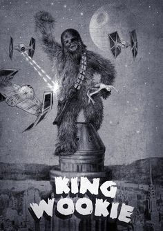 King Wookie (black and white) Art Print by Eric Fan/Society6