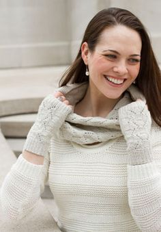 Knitting patterns for Greensboro Fingerless Mitts & Cowl | Feel Good Yarn Company