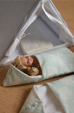 Doll tent and sleeping bags