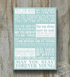 Forever Young Bob Dylan Print Song Lyrics 13x19 Modern Block Art Subway Sign Poster Typography Home Decor Graduation Gift Teen on Etsy,