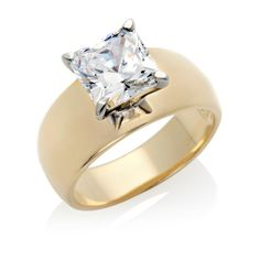 3ct Absolute™ Round Solitaire Wide Band Ring