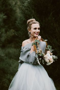 Dressing for a cold winter wedding doesn't mean you need to sacrifice style| Image by Heather Burris Photography