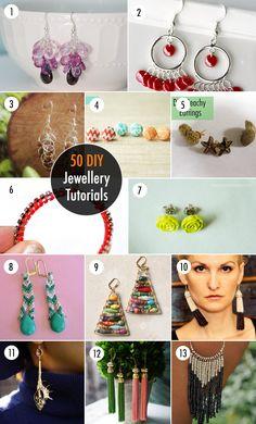 50 DIY Jewellery Tutorials - Earrings