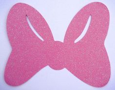 MINNIE BOW TEMPLATE | Minnie Mouse Bows Pink Glitter