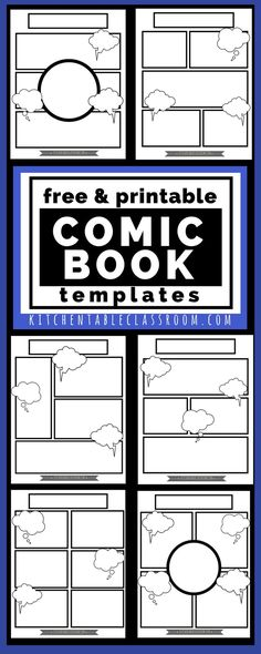 Comic book templates for cartooning