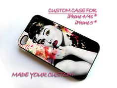 Audrey Hepburn Colorful, iPhone 4 Case, iPhone 4s Case, iPhone 5 Case, Samsung Galaxy S3 i9300, Samsung Galaxy S4 i9500