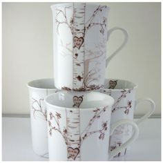 I love these mugs. These mugs make fabulous wedding or housewarming gifts.  Each mug is a different season of the year