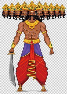 4d1a767a69b01 Put a knife of Ravana, Ravana, India God, the Hindu god of India ...