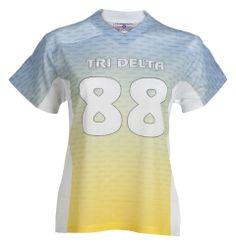 cc66e22e0b1 Personalized Tri Delta sorority powder puff football jersey. Teamwork  Athletic Apparel