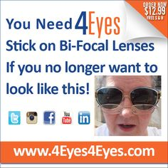 #4eyes #4eyes4eyes #stickonbifocals #stickon #news #bifocals #ineedbifocals #christmas #lenses #glasses #newproduct #eyewear #sunglasses #blind #onlineshop #food