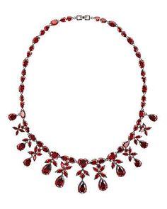 Y38J8 Fallon Monarch Crystal Heart Drop Necklace