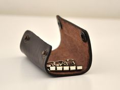 Small Dark Brown Handmade Leather Key Holder Chic by leatherline, $22.00