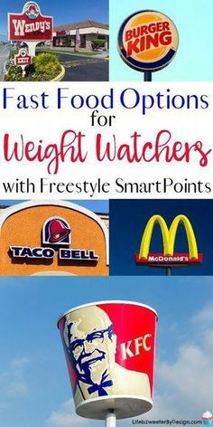 Find out the best fast food options for . Find out the best fast food options for Weight Watchers with freestyle SmartPoints. Find out how many freestyle points popular foods at fast food places are! Weight Watchers Tipps, Weight Watchers Smart Points, Weight Watchers Meals, Weight Watchers Restaurant Points, Weight Watcher For Free, Weight Watchers Products, Weight Watchers Recipes With Smartpoints, Weight Watchers Motivation, Weight Watchers Program