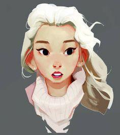 samuelyounart - Student, Digital Artist | DeviantArt Female Character Design, Character Design References, Character Drawing, Character Design Inspiration, Character Concept, Concept Art, Character Ideas, Art And Illustration, Illustrations