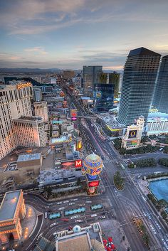 Las Vegas Boulevard HDR from the Eiffel Tower