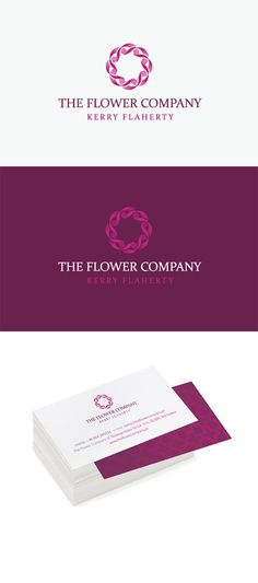 I like the logo and clean aesthetic of this business card's design. => The Flower Company business card. Front printed on white stock; back is printed on maroon stock paper. Designed by graphic designer kreujemy.to of Cracow, Poland. http://www.behance.net/gallery/The-Flower-Company/1007677