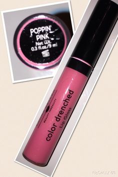 Laura Geller color drenched lip gloss in poppin' pink, new, full size