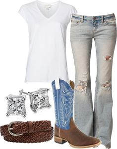 So cute country look! Country Style Outfits, Country Girl Style, Country Fashion, My Style, Southern Style, Simple Style, Summer Outfits, Casual Outfits, Cute Outfits