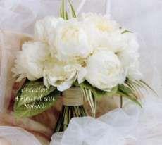 A FLEUR D EAU   Fleuriste Créateur 77 BOUQUET DE MARIEE Pivoines Blanches,  Fleurs Sans d24ea264fd8
